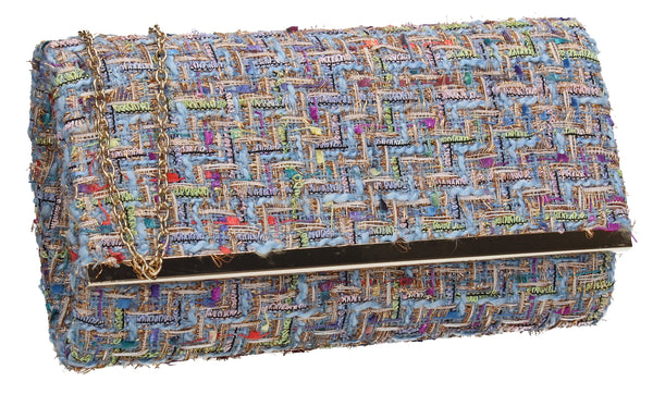 SWANKYSWANS Charlotte Clutch Bag Blue Cute Cheap Clutch Bag For Weddings School and Work