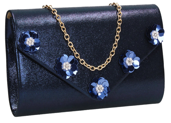 SWANKYSWANS Josie Clutch Bag Blue Cute Cheap Clutch Bag For Weddings School and Work