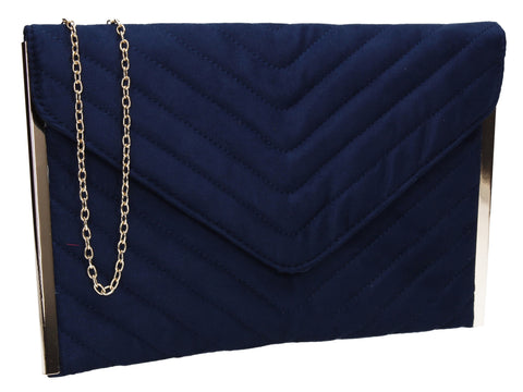 SWANKYSWANS Tessa Clutch Bag Blue Cute Cheap Clutch Bag For Weddings School and Work