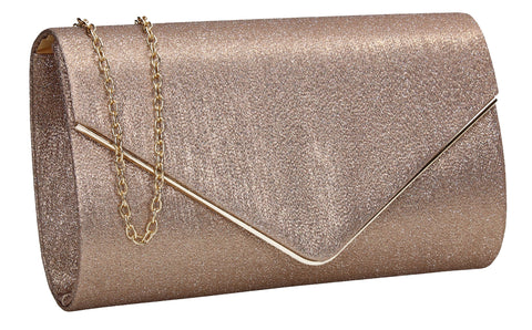 Maya Clutch Bag Bronze