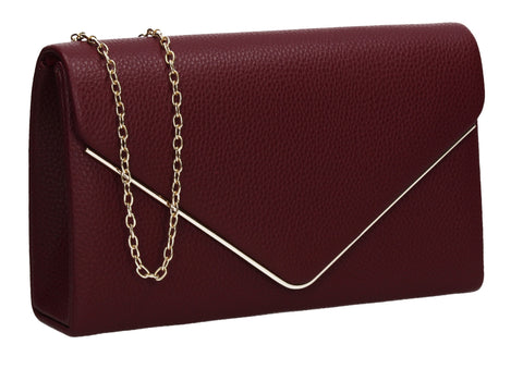 Erica Envelope Clutch Bag Burgundy