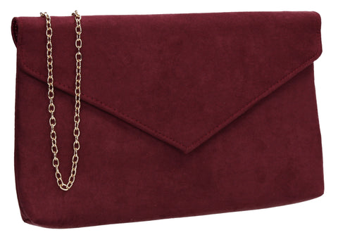 SWANKYSWANS Rosa Clutch Bag Burgundy Cute Cheap Clutch Bag For Weddings School and Work