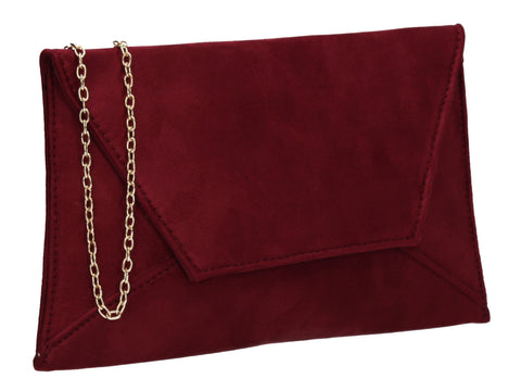 Dory Envelope Clutch Bag Burgundy