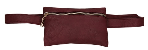 Freya Belt Bum Bag Burgundy