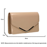 SWANKYSWANS Paris Clutch Bag Beige Cute Cheap Clutch Bag For Weddings School and Work