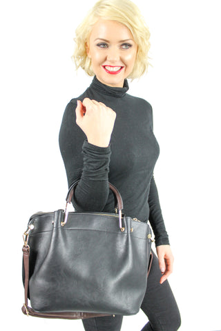 Carol Plain Handbag Black