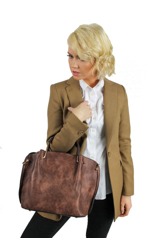 Carol Tote Handbag Brown