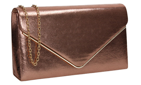 Poppy Synthetic Envelope Clutch Bag Champagne