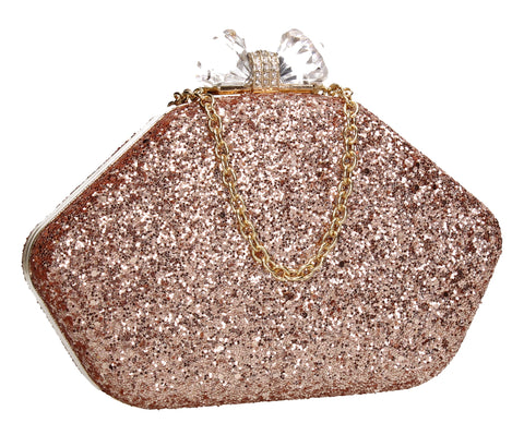 SWANKYSWANS Mariah Clutch Bag Champagne Cute Cheap Clutch Bag For Weddings School and Work