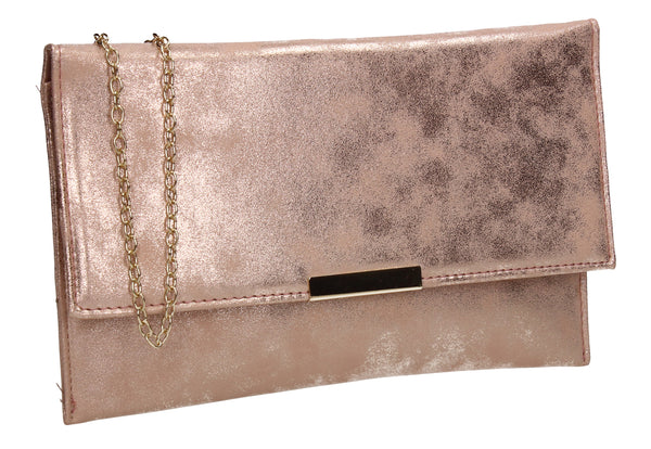 Harlie Slim Flapover Clutch Bag Champagne