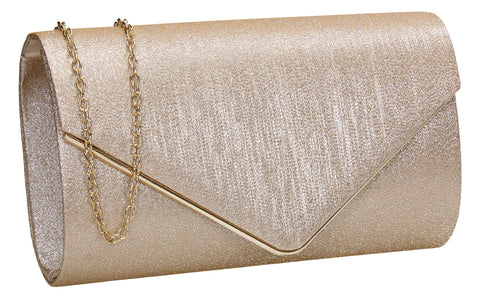 SWANKYSWANS Maya Clutch Bag Champagne Cute Cheap Clutch Bag For Weddings School and Work