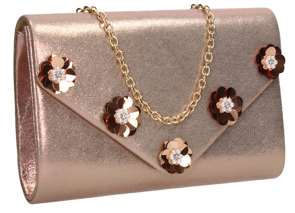 SWANKYSWANS Josie Clutch Bag Champagne Cute Cheap Clutch Bag For Weddings School and Work