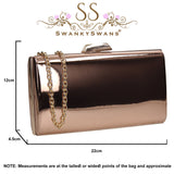 SWANKYSWANS Finley Clutch Bag Champagne Cute Cheap Clutch Bag For Weddings School and Work