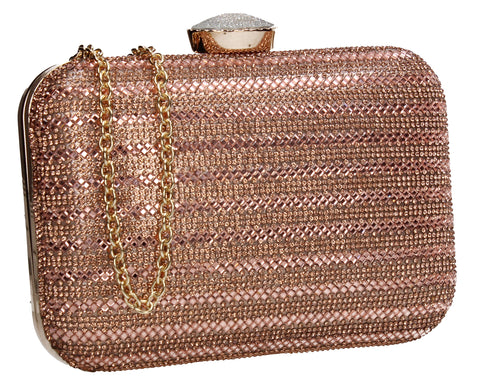 Swanky Swans Jane Clutch Bag Champagne Womens Ladies Clutch Bag Cute