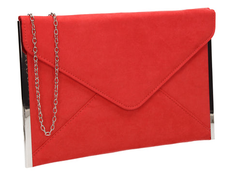 Louis Slim Clutch Bag Coral