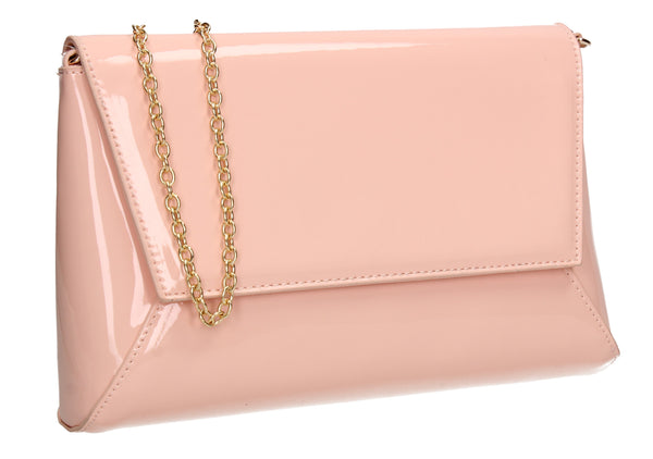 Swanky Swans Elise Flapover Clutch Bag Flesh Womens Ladies Clutch Bag Cute