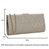 SWANKYSWANS Frances Clutch Bag Gold Cute Cheap Clutch Bag For Weddings School and Work