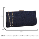 SWANKYSWANS Frances Clutch Bag Navy Cute Cheap Clutch Bag For Weddings School and Work