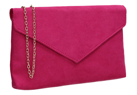 SWANKYSWANS Rosa Clutch Bag Fuchsia Cute Cheap Clutch Bag For Weddings School and Work