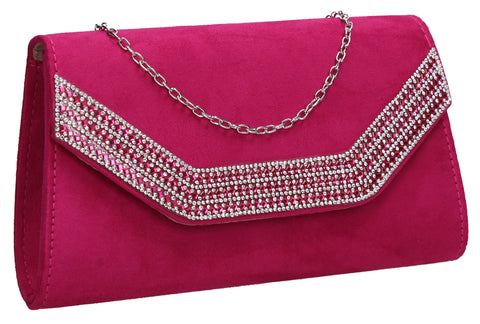 Beautiful Summer Winter Clutch Bag perfect for a party!Harper Clutch Bag Fuchsia Pink SWANKYSWANS