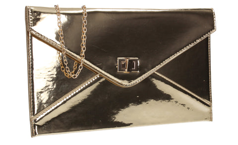 Sarah Envelope Clutch Bag Gold