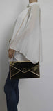 SWANKYSWANS Sarah Envelope Clutch Bag Gold Cute Cheap Clutch Bag For Weddings School and Work