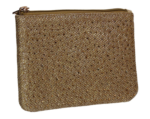 Sarah Slim Glitter Card Holder Coin Purse Gold