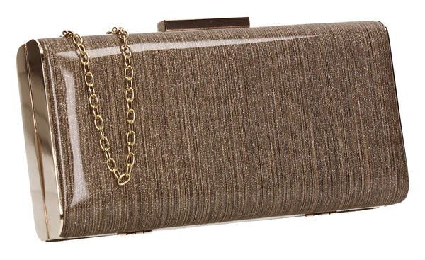 SWANKYSWANS Melissa Clutch Bag Gold Cute Cheap Clutch Bag For Weddings School and Work