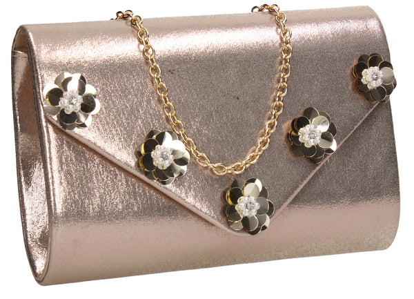 SWANKYSWANS Josie Clutch Bag Gold Cute Cheap Clutch Bag For Weddings School and Work