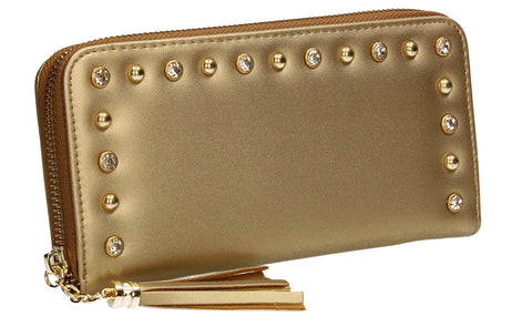 SWANKYSWANS James Plain Wallet Gold