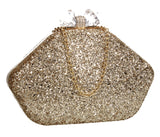 SWANKYSWANS Mariah Clutch Bag Gold Cute Cheap Clutch Bag For Weddings School and Work