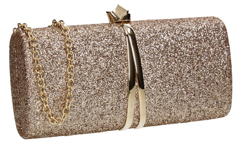 Daisy Clutch Bag Gold for Prom, Weddings And more!