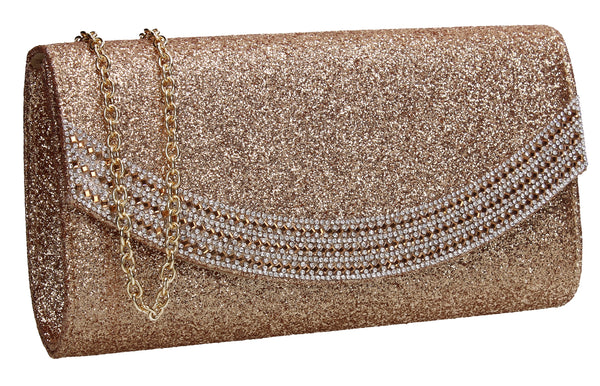 SWANKYSWANS Dakota Clutch Bag Gold Cute Cheap Clutch Bag For Weddings School and Work