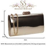 SWANKYSWANS Finley Clutch Bag Gold Cute Cheap Clutch Bag For Weddings School and Work