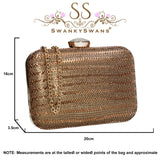 SWANKYSWANS Jane Clutch Bag Gold Cute Cheap Clutch Bag For Weddings School and Work