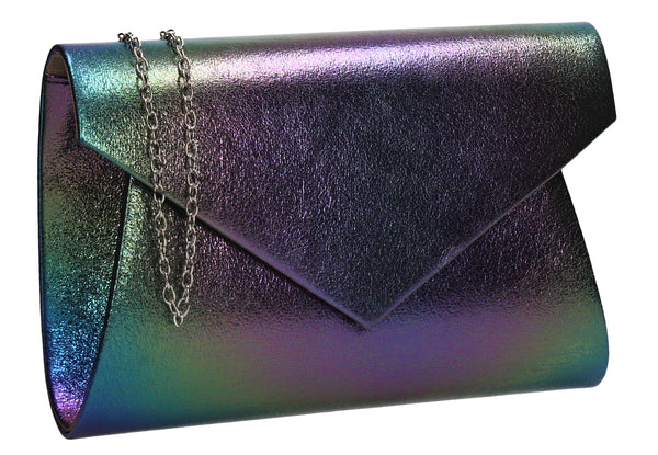 Karina Rainbow Style Clutch Bag Green