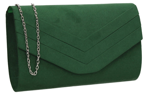 SWANKYSWANS Samantha V Detail Clutch Bag Green