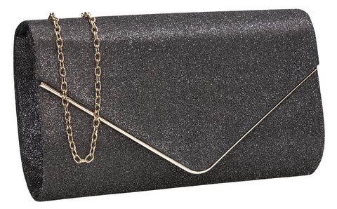 SWANKYSWANS Maya Clutch Bag Grey Cute Cheap Clutch Bag For Weddings School and Work