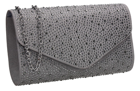 SWANKYSWANS Cadence Clutch Bag Grey Cute Cheap Clutch Bag For Weddings School and Work