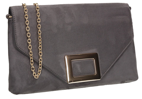 SWANKYSWANS Georgia Clutch Bag Grey