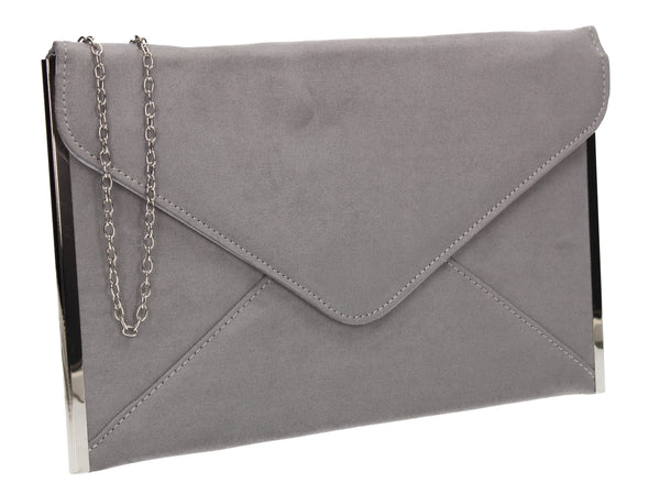 Louis Slim Clutch Bag Grey