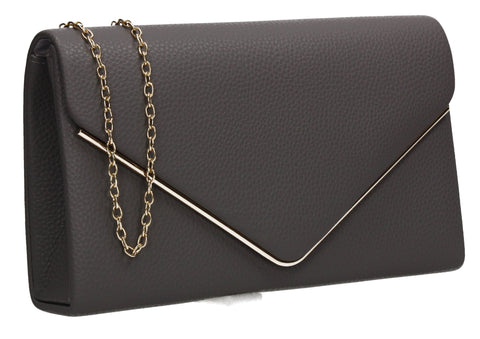 Erica Envelope Clutch Bag Grey