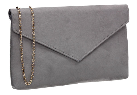 SWANKYSWANS Rosa Clutch Bag Grey Cute Cheap Clutch Bag For Weddings School and Work