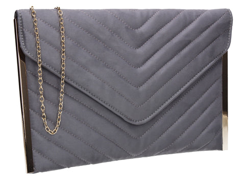 Tessa Clutch Bag Grey