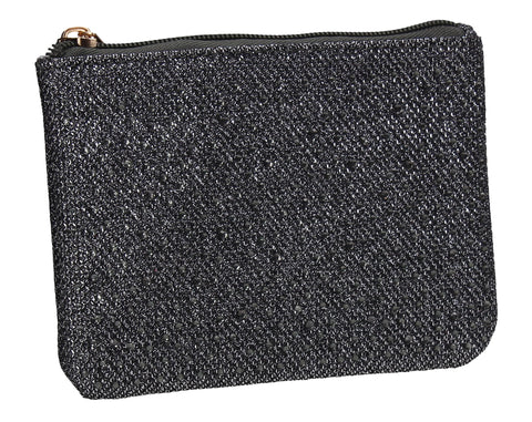 Sarah Slim Glitter Card Holder Coin Purse Grey