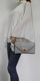 SWANKYSWANS Shannon Clutch Bag Grey Cute Cheap Clutch Bag For Weddings School and Work