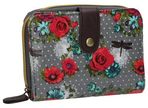 Swanky Swank Hayley Floral Bi-Fold Purse GreyCheap Cute School Wallets Purses Bags Animal