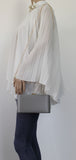 SWANKYSWANS Ruth Clutch Bag Grey Cute Cheap Clutch Bag For Weddings School and Work