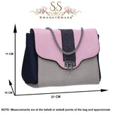 Sears Two Tone Handbag Meutral GreyBeautiful Cute Animal Faux Leather Clutch Bag Handles Strap Summer School