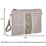 Delilah Clutch Bag Neutral Grey